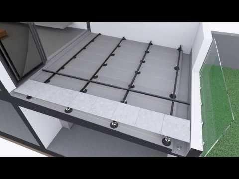 Qwickbuild Tiles over membrane