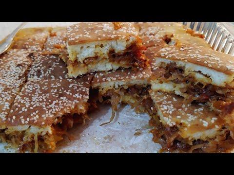Пирог с капустой на кефире/ Очень вкусный и быстрый рецепт