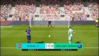 ARSENAL vs PSG | Penalty Shootout | New Kits 2018/2019 | PES 2018 Gameplay PC
