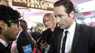 Interview de David Duchovny au Golden Globes 2012