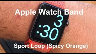 Apple Watch Sport Loop Band (SPICY ORANGE) Unboxing 🔥🍊