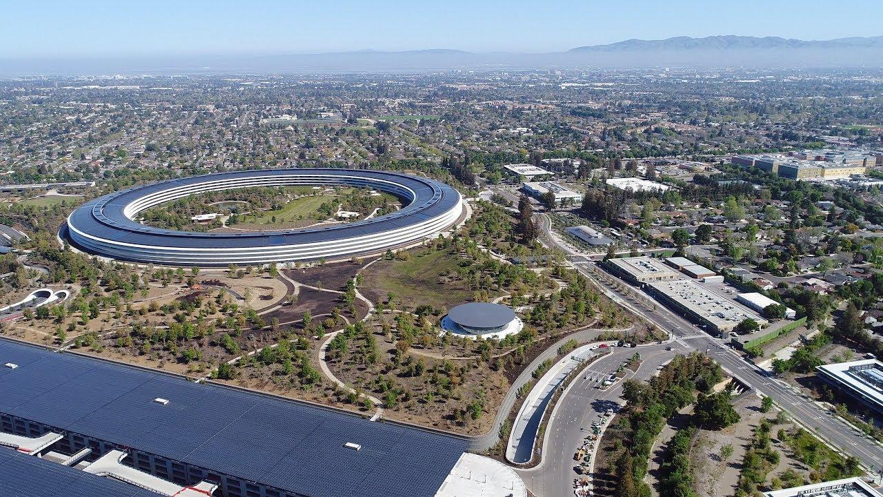 Apple усложняет дроноводам съёмку своего офиса