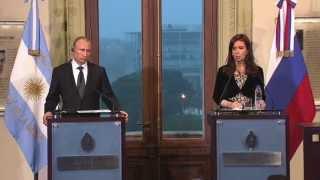 В. Путин для прессы по итогам российско-аргентинских переговоров