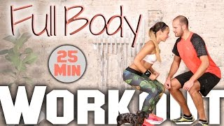 Fatburning Workout - Total Body Hardcore Session - 25 Minute Home Training by BodyShape