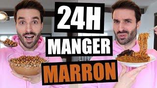 JE MANGE QUE LA NOURRITURE MARRON PENDANT 24H - FT HUBY