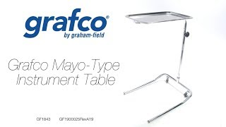 Grafco MAYO-TYPE Instrument Table Youtube Video Link