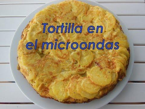 Tortilla en el microondas con grill ¡Sin usar sartén para nada!