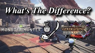 MHWorld To MHGU | Insect Glaive | What's The Difference?