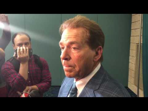 Nick Saban on NFL draft, Brian Daboll & Aaron Robinson's health