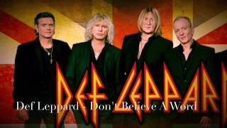 Def Leppard (Tribute to Thin Lizzy)-Don't Believe A Word
