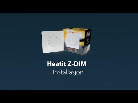 Heatit Z-Dim Installation