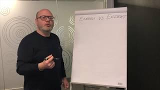 Magnus Thorstensson förklarar skillnaden mellan energi och effekt.