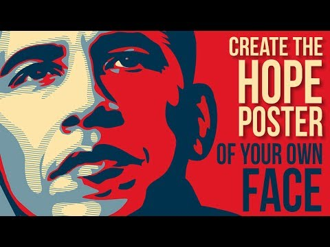 Photoshop Tutorial: Create & Customize Obama's HOPE Poster Design