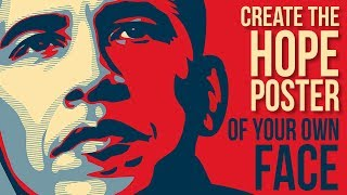 Photoshop: Create & Personalize Obama's HOPE Poster Design
