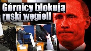 Strajk górników – węgiel wysypany w kancelarii Morawieckiego