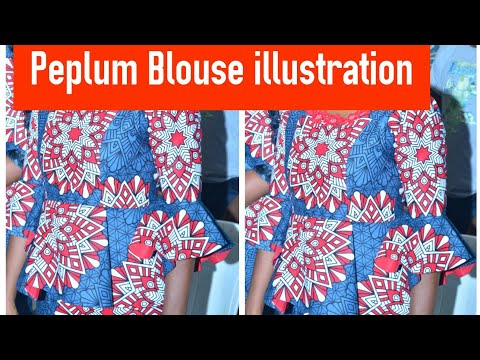 Easiest way to cut a Bustier Peplum Blouse