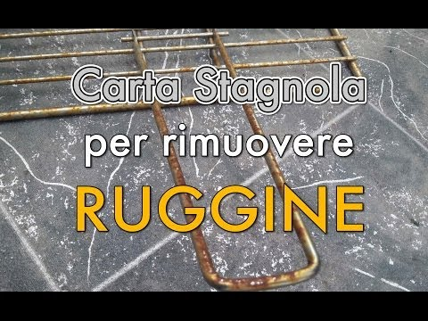 Come rimuovere la ruggine dalle cromature - tutorial FACILISSIMO con Carta Stagnola!