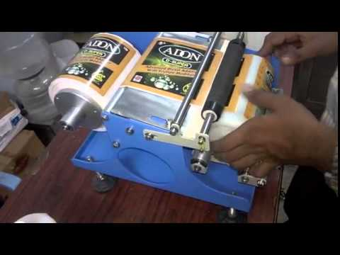Manual Label Applicator Machine