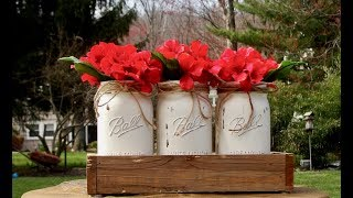 Mason Jar Centerpiece And How  To Make Chalk Paint