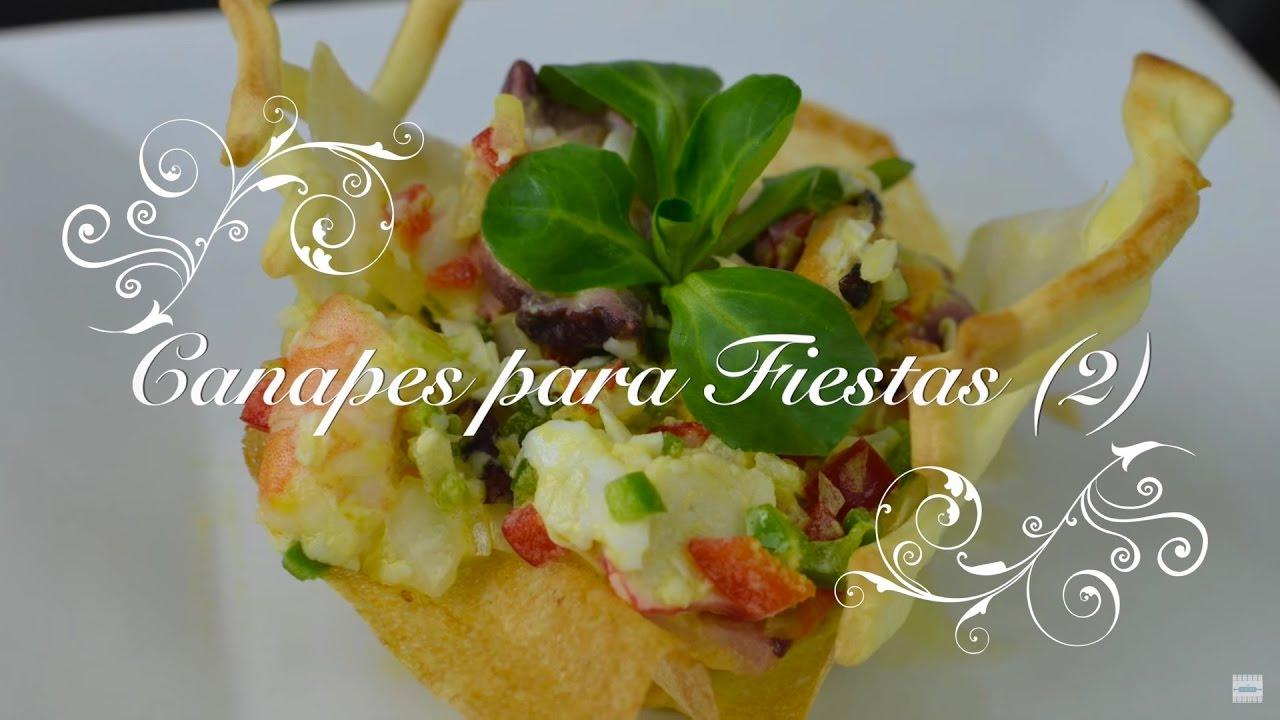 Canapes para fiestas 2 | Tartaleta de Salpicon de Mariscos | Canapes Originales por Chef de mi casa