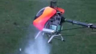 RC Helicopter Align Trex600 600 600n fast crash. (Delyn Model Flying Club) Trex