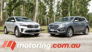 2018 Hyundai Santa Fe v Kia Sorento Comparison | motoring.com.au