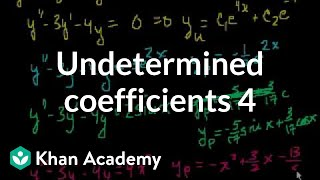 Undetermined Coefficients 4