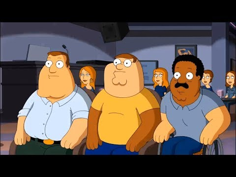 Family Guy !! Peter, Joe, Cleveland have changed faces for each other