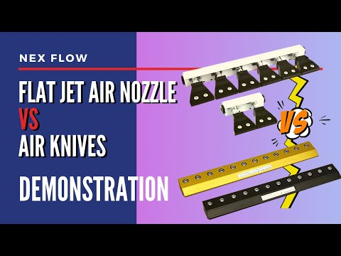 Air knives or flat jets?
