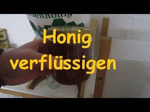 Honig verflüssigen im Wärmeschrank und abfüllen Bienenhonig Imkerei