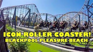 Icon Roller Coaster! Blackpool Pleasure Beach Rider Cam & Front Seat POV w/ Offride Footage