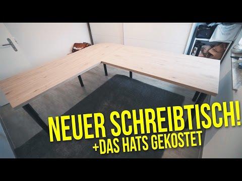 Schreibtisch selber bauen + das hats gekostet | Projekt DIY Büro | Nils Langenbacher VLOG DEUTSCH