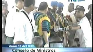 Consejo de Ministros Danza Garífuna Limón Colon 17 04 2013