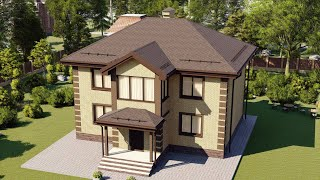 Проект дома 151-D, Площадь дома: 151 м2, Размер дома:  11,3x10,9 м