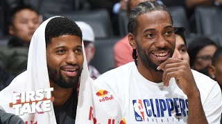 LeBron-Anthony Davis or Kawhi-Paul George? First Take debates the best duo in the NBA