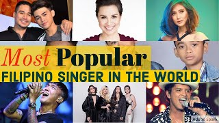 TOP 10 Most Popular Filipino Singer in The World: Famous Filipino Singer outside the Philippines. - 10