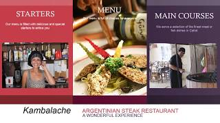 preview picture of video 'Kambalache Argentinian Restaurant Alicante. Argentinian Steaks and Tango - Catral'
