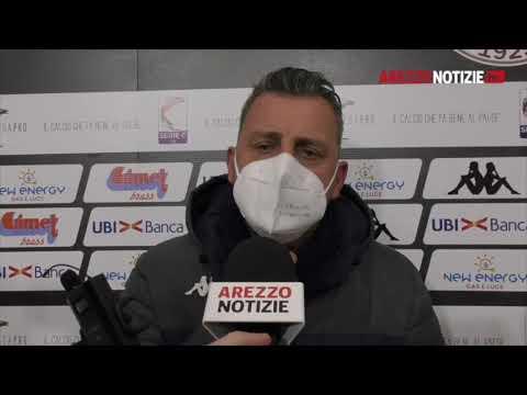 Arezzo-Cesena 0-2, intervista a mister Camplone