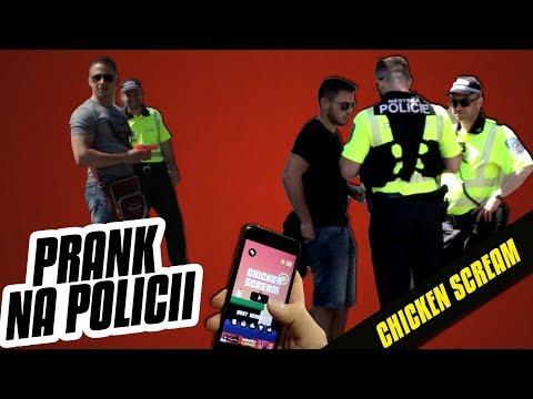 PRANK NA POLICII ! CHICKEN SCREAM