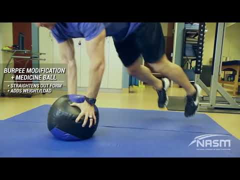 Burpees with Medicine Ball
