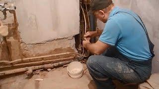 Своими руками прячем трубы в стены,в ванной комнате ч.1