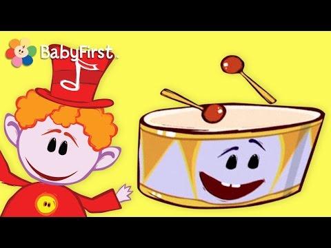 BabyFirst Para Niños: Las Notas Musicales - El Tambor