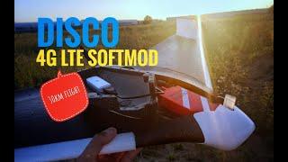 THIRD flight: Parrot DISCO Unlimited Range! 4G LTE softmod. 30km fpv flight ????
