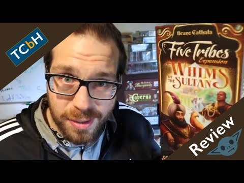 The Cardboard Herald reviews - Five Tribes: Whims of the Sultan