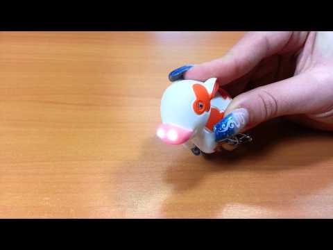 Baby-Kuh Schlüsselanhänger mit Licht- u. Soundfunktion