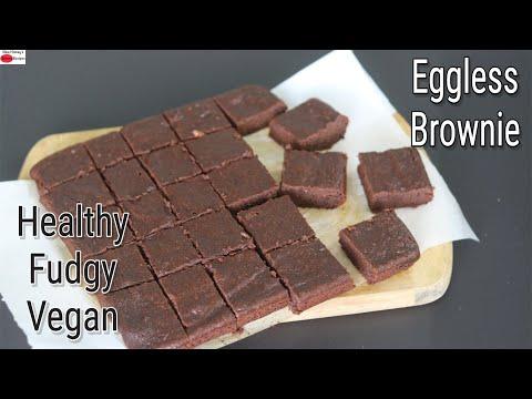 Brownie Recipe – Healthy 100% Whole Wheat Chocolate Brownies – Eggless Atta Brownie | Skinny Recipes