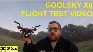 Goolsky Dongmingtuo X8 Drone 360 Flip Failure Flight Test Video