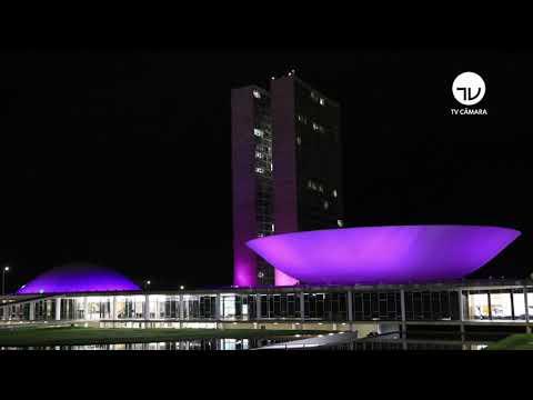 Iluminação do Congresso comemora Março Mulher - 08/03/21