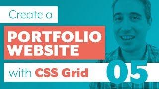 How to create a Portfolio Website with CSS Grid & Sass | Part 5: Portfolio with flexbox fallbal