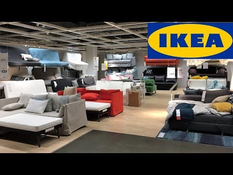 IKEA SLEEPER SOFAS FUTONS FURNITURE HOME DECOR - SHOP WITH ME SHOPPING STORE WALK THROUGH 4K